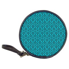 Hexagon1 Black Marble & Turquoise Colored Pencil Classic 20 Cd Wallets by trendistuff