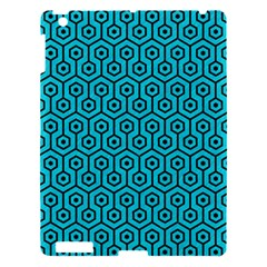 Hexagon1 Black Marble & Turquoise Colored Pencil Apple Ipad 3/4 Hardshell Case by trendistuff