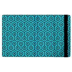 Hexagon1 Black Marble & Turquoise Colored Pencil Apple Ipad 2 Flip Case by trendistuff