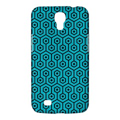 Hexagon1 Black Marble & Turquoise Colored Pencil Samsung Galaxy Mega 6 3  I9200 Hardshell Case by trendistuff