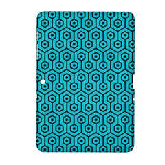Hexagon1 Black Marble & Turquoise Colored Pencil Samsung Galaxy Tab 2 (10 1 ) P5100 Hardshell Case  by trendistuff