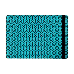 Hexagon1 Black Marble & Turquoise Colored Pencil Ipad Mini 2 Flip Cases by trendistuff