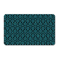 Hexagon1 Black Marble & Turquoise Colored Pencil (r) Magnet (rectangular)