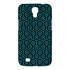Hexagon1 Black Marble & Turquoise Colored Pencil (r) Samsung Galaxy Mega 6 3  I9200 Hardshell Case by trendistuff