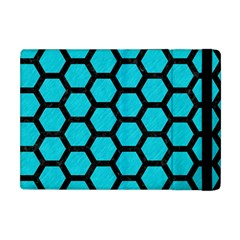 Hexagon2 Black Marble & Turquoise Colored Pencil Apple Ipad Mini Flip Case by trendistuff