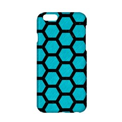 Hexagon2 Black Marble & Turquoise Colored Pencil Apple Iphone 6/6s Hardshell Case by trendistuff