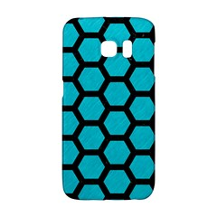 Hexagon2 Black Marble & Turquoise Colored Pencil Galaxy S6 Edge by trendistuff