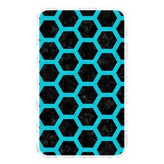 HEXAGON2 BLACK MARBLE & TURQUOISE COLORED PENCIL (R) Memory Card Reader