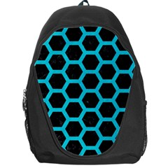 HEXAGON2 BLACK MARBLE & TURQUOISE COLORED PENCIL (R) Backpack Bag
