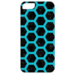 HEXAGON2 BLACK MARBLE & TURQUOISE COLORED PENCIL (R) Apple iPhone 5 Classic Hardshell Case