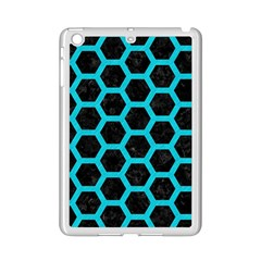 HEXAGON2 BLACK MARBLE & TURQUOISE COLORED PENCIL (R) iPad Mini 2 Enamel Coated Cases