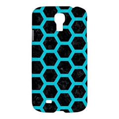 Hexagon2 Black Marble & Turquoise Colored Pencil (r) Samsung Galaxy S4 I9500/i9505 Hardshell Case by trendistuff