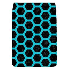 HEXAGON2 BLACK MARBLE & TURQUOISE COLORED PENCIL (R) Flap Covers (L)