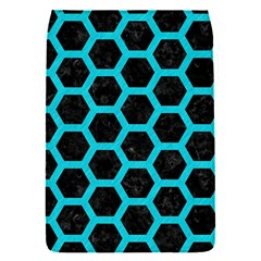 HEXAGON2 BLACK MARBLE & TURQUOISE COLORED PENCIL (R) Flap Covers (S)