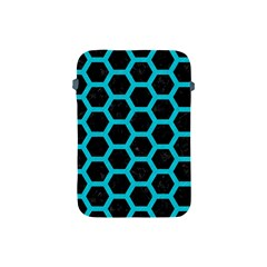 HEXAGON2 BLACK MARBLE & TURQUOISE COLORED PENCIL (R) Apple iPad Mini Protective Soft Cases