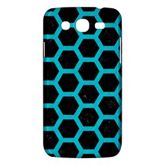 HEXAGON2 BLACK MARBLE & TURQUOISE COLORED PENCIL (R) Samsung Galaxy Mega 5.8 I9152 Hardshell Case