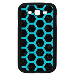 HEXAGON2 BLACK MARBLE & TURQUOISE COLORED PENCIL (R) Samsung Galaxy Grand DUOS I9082 Case (Black)