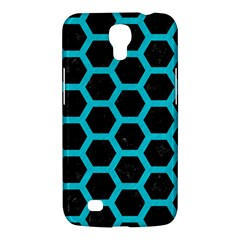 HEXAGON2 BLACK MARBLE & TURQUOISE COLORED PENCIL (R) Samsung Galaxy Mega 6.3  I9200 Hardshell Case
