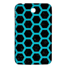 HEXAGON2 BLACK MARBLE & TURQUOISE COLORED PENCIL (R) Samsung Galaxy Tab 3 (7 ) P3200 Hardshell Case