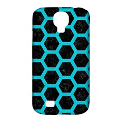 HEXAGON2 BLACK MARBLE & TURQUOISE COLORED PENCIL (R) Samsung Galaxy S4 Classic Hardshell Case (PC+Silicone)