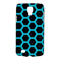 HEXAGON2 BLACK MARBLE & TURQUOISE COLORED PENCIL (R) Galaxy S4 Active