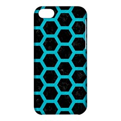 HEXAGON2 BLACK MARBLE & TURQUOISE COLORED PENCIL (R) Apple iPhone 5C Hardshell Case