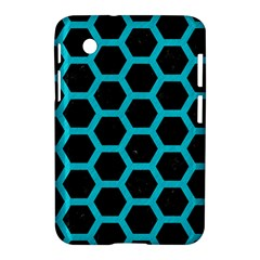 HEXAGON2 BLACK MARBLE & TURQUOISE COLORED PENCIL (R) Samsung Galaxy Tab 2 (7 ) P3100 Hardshell Case