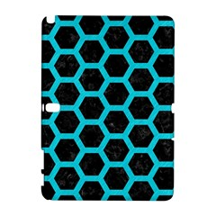 HEXAGON2 BLACK MARBLE & TURQUOISE COLORED PENCIL (R) Galaxy Note 1