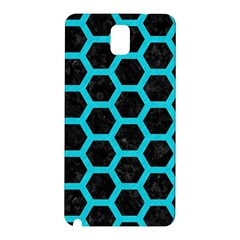 HEXAGON2 BLACK MARBLE & TURQUOISE COLORED PENCIL (R) Samsung Galaxy Note 3 N9005 Hardshell Back Case