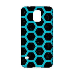 HEXAGON2 BLACK MARBLE & TURQUOISE COLORED PENCIL (R) Samsung Galaxy S5 Hardshell Case