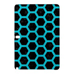 HEXAGON2 BLACK MARBLE & TURQUOISE COLORED PENCIL (R) Samsung Galaxy Tab Pro 10.1 Hardshell Case