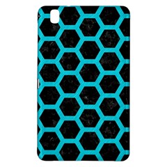 HEXAGON2 BLACK MARBLE & TURQUOISE COLORED PENCIL (R) Samsung Galaxy Tab Pro 8.4 Hardshell Case