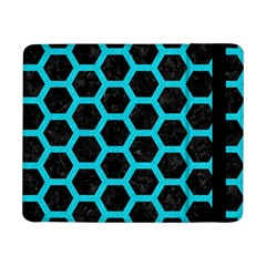 HEXAGON2 BLACK MARBLE & TURQUOISE COLORED PENCIL (R) Samsung Galaxy Tab Pro 8.4  Flip Case