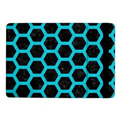 HEXAGON2 BLACK MARBLE & TURQUOISE COLORED PENCIL (R) Samsung Galaxy Tab Pro 10.1  Flip Case
