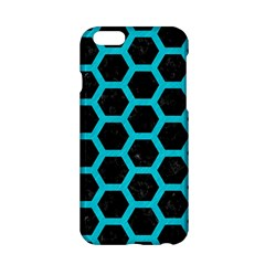 HEXAGON2 BLACK MARBLE & TURQUOISE COLORED PENCIL (R) Apple iPhone 6/6S Hardshell Case