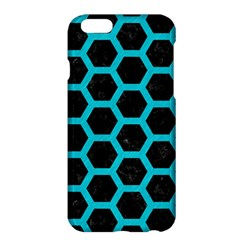HEXAGON2 BLACK MARBLE & TURQUOISE COLORED PENCIL (R) Apple iPhone 6 Plus/6S Plus Hardshell Case