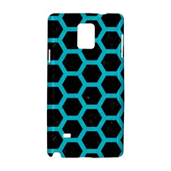 HEXAGON2 BLACK MARBLE & TURQUOISE COLORED PENCIL (R) Samsung Galaxy Note 4 Hardshell Case