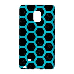 HEXAGON2 BLACK MARBLE & TURQUOISE COLORED PENCIL (R) Galaxy Note Edge