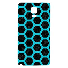 HEXAGON2 BLACK MARBLE & TURQUOISE COLORED PENCIL (R) Galaxy Note 4 Back Case