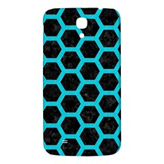 HEXAGON2 BLACK MARBLE & TURQUOISE COLORED PENCIL (R) Samsung Galaxy Mega I9200 Hardshell Back Case