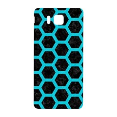 HEXAGON2 BLACK MARBLE & TURQUOISE COLORED PENCIL (R) Samsung Galaxy Alpha Hardshell Back Case