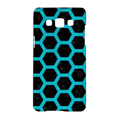 HEXAGON2 BLACK MARBLE & TURQUOISE COLORED PENCIL (R) Samsung Galaxy A5 Hardshell Case