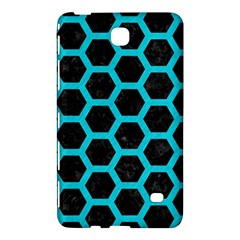HEXAGON2 BLACK MARBLE & TURQUOISE COLORED PENCIL (R) Samsung Galaxy Tab 4 (7 ) Hardshell Case