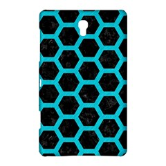 HEXAGON2 BLACK MARBLE & TURQUOISE COLORED PENCIL (R) Samsung Galaxy Tab S (8.4 ) Hardshell Case