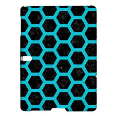 HEXAGON2 BLACK MARBLE & TURQUOISE COLORED PENCIL (R) Samsung Galaxy Tab S (10.5 ) Hardshell Case