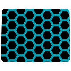 HEXAGON2 BLACK MARBLE & TURQUOISE COLORED PENCIL (R) Jigsaw Puzzle Photo Stand (Rectangular)