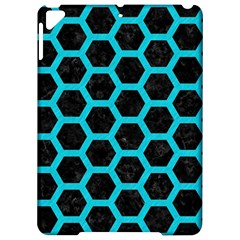 HEXAGON2 BLACK MARBLE & TURQUOISE COLORED PENCIL (R) Apple iPad Pro 9.7   Hardshell Case