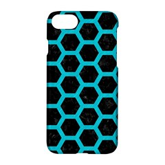 HEXAGON2 BLACK MARBLE & TURQUOISE COLORED PENCIL (R) Apple iPhone 7 Hardshell Case
