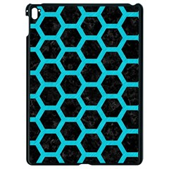 HEXAGON2 BLACK MARBLE & TURQUOISE COLORED PENCIL (R) Apple iPad Pro 9.7   Black Seamless Case