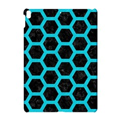 HEXAGON2 BLACK MARBLE & TURQUOISE COLORED PENCIL (R) Apple iPad Pro 10.5   Hardshell Case